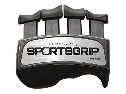 SPORTSGRIP-Hand-und-Fingertrainingsgerät (Hart - 3,2 kg) - Bester ergonomischer Fingerkraftverstärker zur Verbesserung des Griffs für alle Sportathleten. Hersteller: Cognatus Innovations LLC