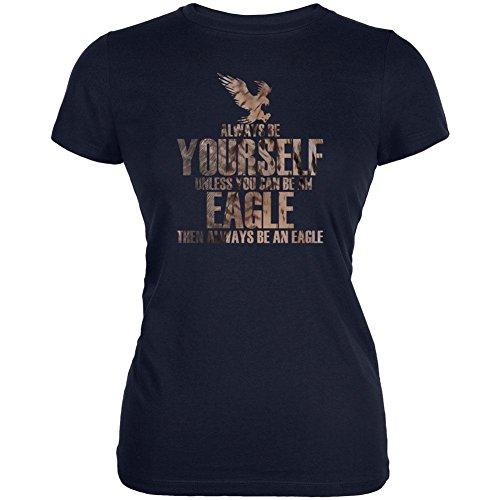 Immer Selbst Adlerfedern Junioren Soft T-Shirt Navy X-LG