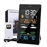 JOYXEON Wetterstation mit Außensensor 21-IN-1 Wettervorhersage mit LCD Farbdisplay Innen- und Außentemperatur, Hygrometer USB Barometer,Mondphase,...