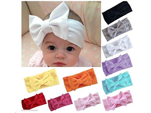 ILOVEDIY Baby Strinband Kopfband Haarband Haarschleife Schleifen Headband Fotografie (Dunkelrosa) Haarschleife Baby Stirnband