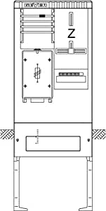 ABN sZ155GF9 zAS 1 zäpl. 63A f.sH-actionneur de commutateur .sammel. m.