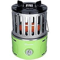 Little Sun Calentador de Gas, Hogar Multifunción Mini Portátil de Gas Licuado Al Aire Libre, Estufa de Asado Silencioso Caliente a Velocidad de Gas Natural,Verde,Gas licuado