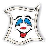 jeder-kann-basteln ♥ Sticker-Gesichter-hängende Augen ♥ Kleiner Preis! Lustige Aufkleber (Augen, Nase, Mund) für Kinder (mittel)