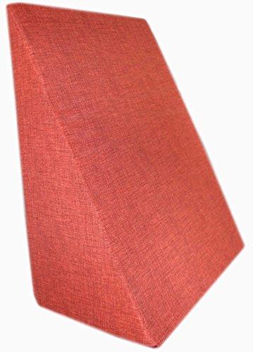 Rücken - Keilkissen - Lesekissen - Die Rückenstüze für das Bett oder Sofa versch. Farben Relaxkissen Beinkissen 60 x 50 x 30 cm (Rost) (Sitzkissen Rost)