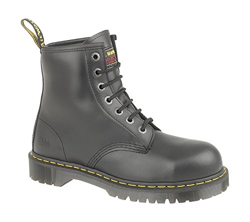 MENS DR MARTENS BLACK SAFETY WORK STEEL TOE CAP ICON 7B10 BOOTS SIZE UK 3 - 15-UK 11 (EU 46) Herren Cap Toe Boot