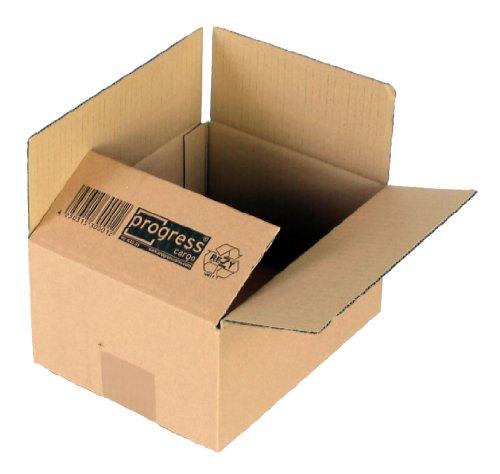 ProgressCargo PC K20.01 - Caja plegable de cartón corrugado (10 unidades, A5+,...