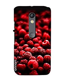 Omnam Red Cheeries Bunch Printed Designer Back Cover Case For Motorola Moto X Play
