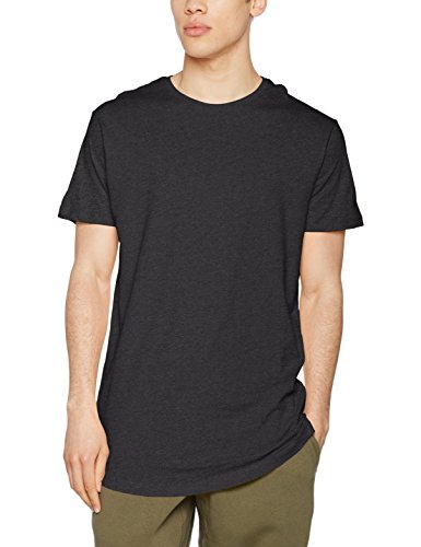 Urban Classics Herren T-Shirt Shaped Long Tee, Grau (Charcoal), TB638, L (100% Baumwolle T-shirt Tee)