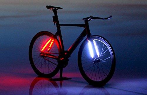 ledbylite-Luci LED per bicicletta, ciclismo e posteriore Fari Luci di sicurezza, impermeabile flessibile striscia Funziona fino a 25ore, luce da bicicletta, 48LED super brillante, a sgancio rapido