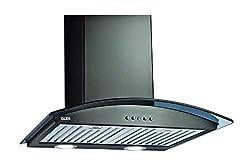 Glen Chimney Black Curved Glass 60cm Baffle Filter 1000 A/F - Life Time Warranty