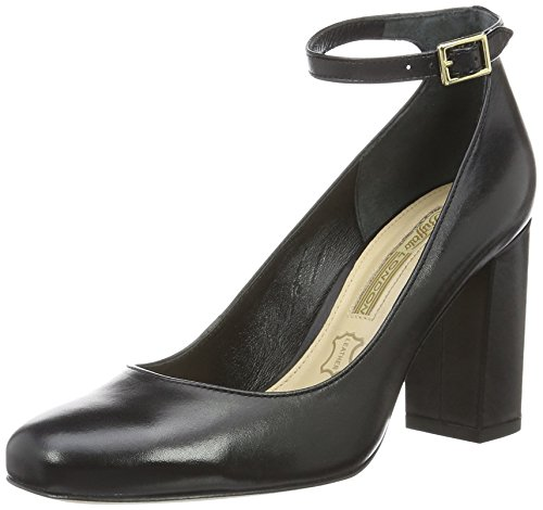 Buffalo London Damen ZS 6454-16 Royal Calf Soft Pumps, Schwarz (Black 01), 41 EU