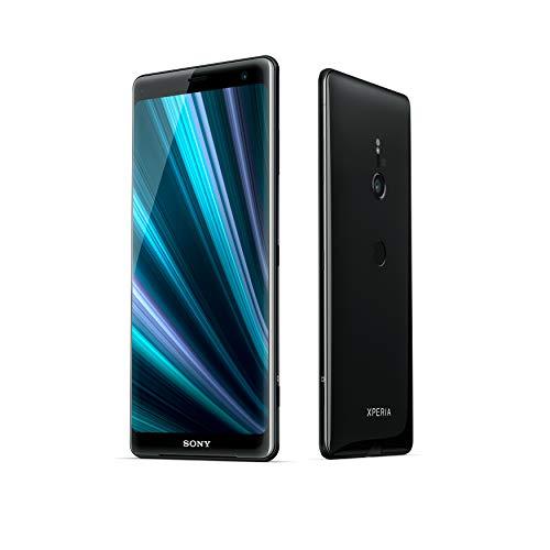 "Sony Xperia XZ3 - Smartphone de 6"" QHD+ HDR 18:9 OLED (Snapdragon 845, 4 GB de RAM , memoria interna de 64 GB, cámara de 19 MP, Android), color negro + Micro SD Sony de 64 GBs"