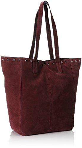 PIECES - Pcneema Suede Shopper, Borse a spalla Donna Rosso (Port Royale)