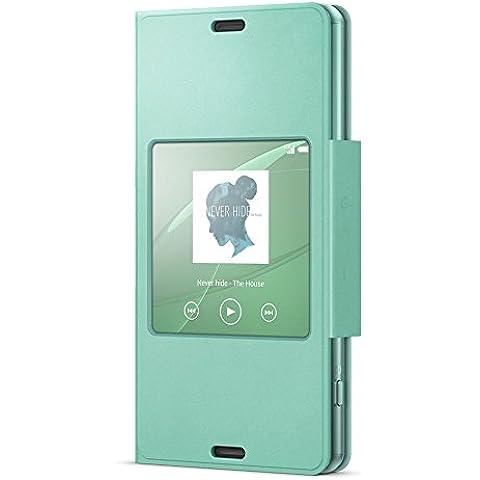Sony SCR26 - Funda para móvil Sony Xperia Z3 Compact (con función ventana), verde
