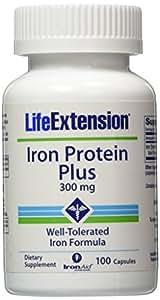 Life Extension, Protéine Fer Plus, 300 mg, 100 capsules