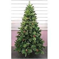 Árbol de Navidad Artificial de Pino Maxi-Relleno árboles C/Soporte metálico 150-240cm (Verde, 180cm 690Tips)