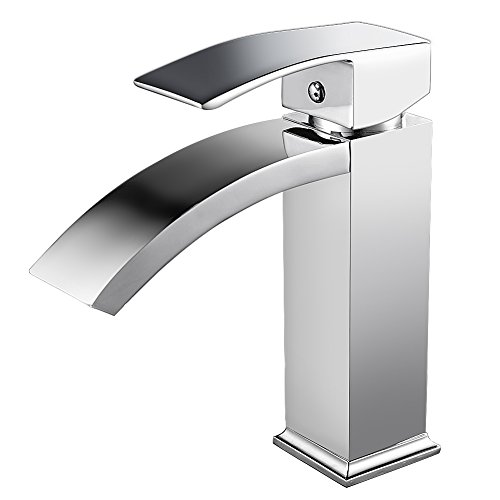 Auralum Chrom Wasserhahn Waschtischarmatur Einhandmischer Waschtisch Wasserfall Armatur