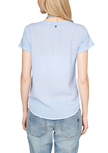 s.Oliver Damen T-Shirt 14.503.32.2189, Einfarbig Blau (pastell blue 5302)