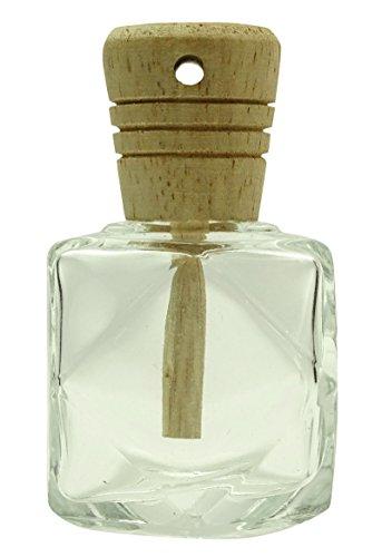 Bouteille en verre transparent étoile Diffuseur Caps en bois Hanging parfum Parfum vide Rechargeables Bottle- Paquet de 4