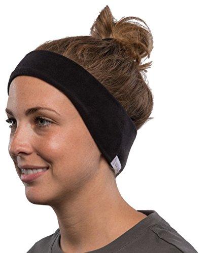 AcousticSheep SleepPhones Kabellos Bluetooth Stirnband-Schlaf-Kopfhörer - vlies, schwarz, mittel -