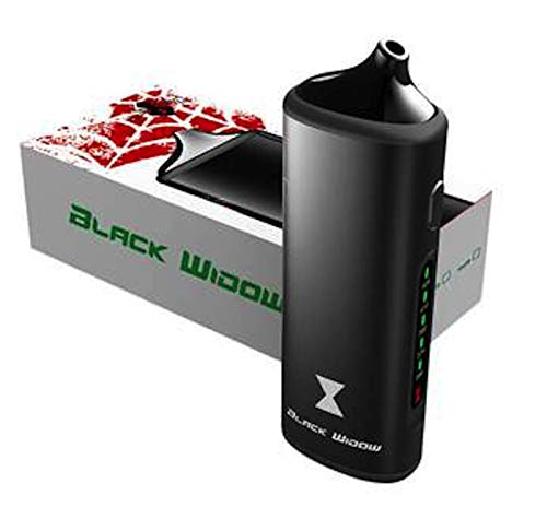 Black Widow Dry Herb Vaporizer by DopeVapes, 2200mAh Battery, 2-in-1  Concentrate and Dry Herb Vape, Ceramic Chamber, 5 Temperature Settings,  Stainless