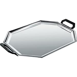 "Alessi"" Ottagonale Tray, Stainless Steel Black"