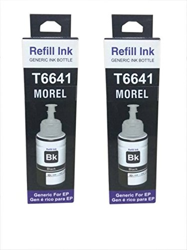 MOREL 664 Ink for USE in EPSON L100/L110/L200/L210/L300/L350/L355/L550 Printer Color Black Pack of 2