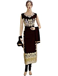 Designer Net Black Long Straight Suit, Shantoon Black Bottom With Net Black Dupatta