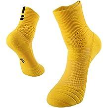 BeeViuc Calcetines Hombres de algodón engrosamiento deportivo Calcetines antideslizantes Transpirable para baloncesto