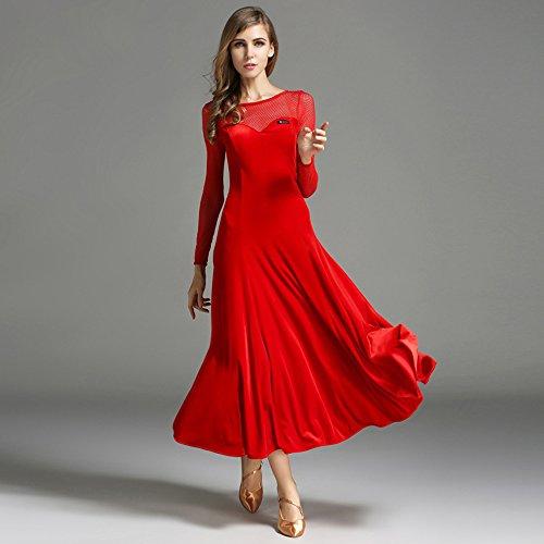 Modern Lady Big Pendel Velvet Ballroom Dance Dress -