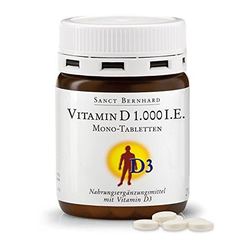 Sanct Bernhard Vitamin D 1.000 I.E. Mono - 250 Tabletten, 1er Pack (1 x 63 g)