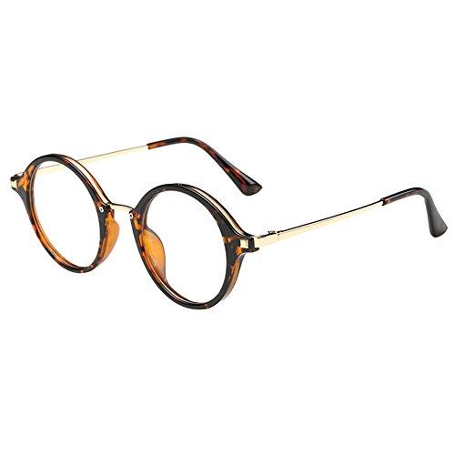 Zhuhaixmy Damen Männer Unisex Cat Eye Metall Rahmen Kurzsichtigkeit Linsen Fertig Brillen Gläser Kurz Entfernung -0.50~-6.00 (Diese sind nicht Lesen Brille)