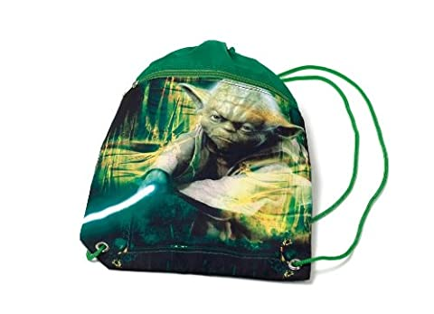 Star Wars großer Turnbeutel mit Reißverschluss Fach und Kordel Meister Yoda