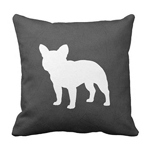 Französisch Sham (Bequeme Kissen Dekorative Kissenbezug 18x 18Französische Bulldogge Silhouette Kissenbezug für Couch Accent Kissenbezüge 45,7x 45,7cm)