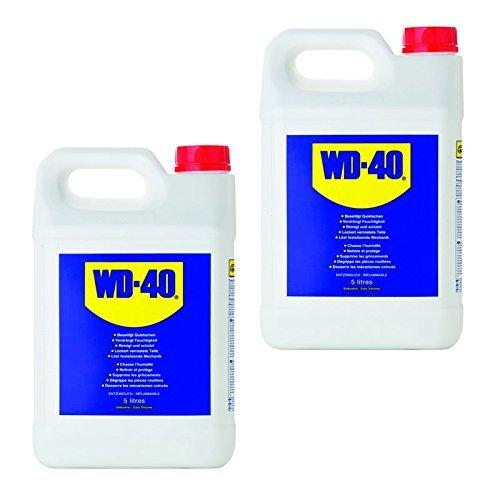Huile multifonction WD-40 - 2x5L=10L - Lubrifiant, dégrippant - Huile pénétrante - Huile à vaporiser en bidon