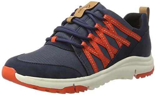 Clarks Damen Tri Trail Sneaker, Blau (Navy Combi), 42 EU