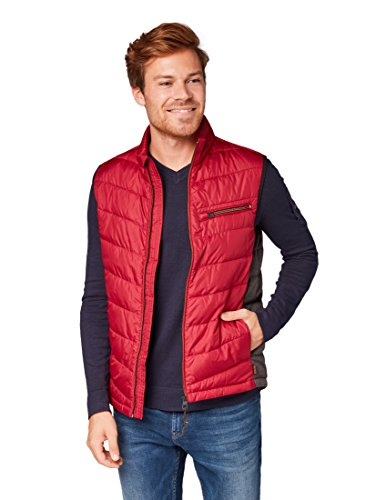 TOM TAILOR für Männer Jacken & Jackets Leichte Steppweste ivy red, XL