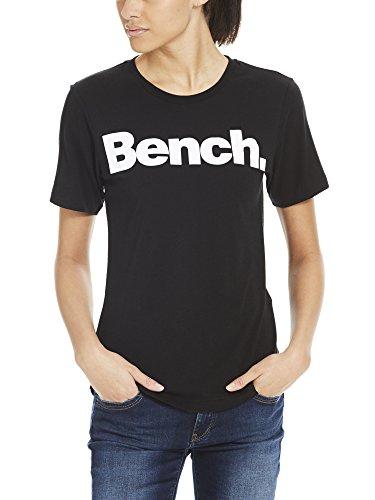 Bench Damen T-Shirt Core Logo Tee Schwarz (Black Beauty Bk11179)
