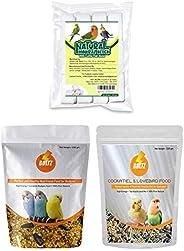 Boltz Food for Cockatiel & Lovebird 1200 Gm & Boltz Bird Food for Budgies - Mix Seeds 1200 Gm & Bo