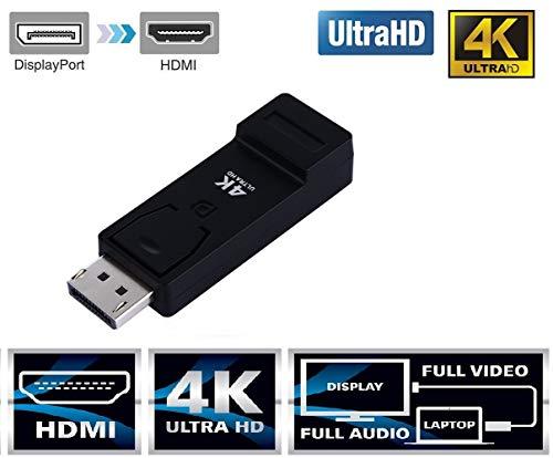 GIA DIGITAL Display Port DP To Hdmi 4K Adaptor Cable Displayport Male To Hdmi Female Ultra Hd Adapter Hdmi Connector Hdmi Adapter Cable Support Displayport To HDMI Converter Male To HDMI Female Cable Converter Adapter For Equipped 4K Ultra HD Monitors, Di