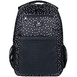 Roxy Here You Are Mix Mochila Mediana, Mujer, Gris/Negro (True Black Dots for Days), 23.5 l
