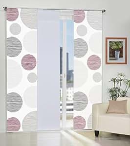3er set fl chenvorh nge cirque deko stoff blickdicht inkl hochwertigem zubeh r. Black Bedroom Furniture Sets. Home Design Ideas