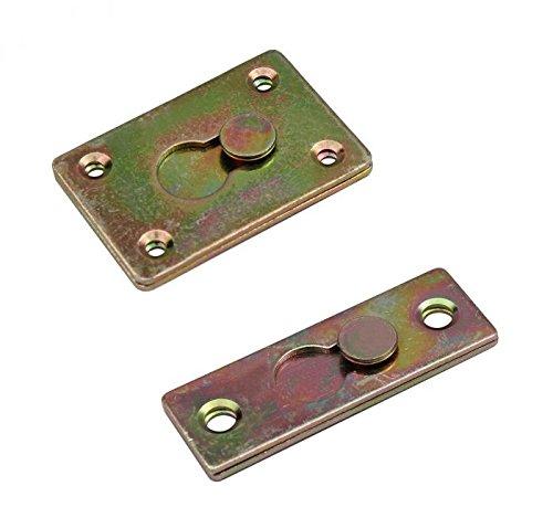Steckverbinder Möbelverbinder Bettverbinder Couchverbinder Metallverbinder 7-17 Größe 20x60