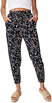Cotton On Women's Casual Pants, Millie Floral Ecl