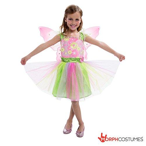Costume da fatina per bambina, misura piccola, media e