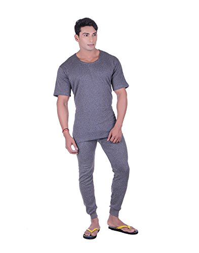 DREAMDROP WARMERS MEN GREY HALFSLEEVES LOWER THERMAL SET