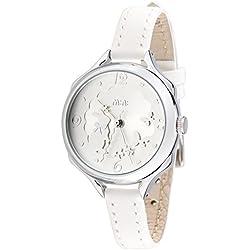 Fashion Girl Female Children Three- dimensional Rabbit White Leather Quartz Wrist Watch
