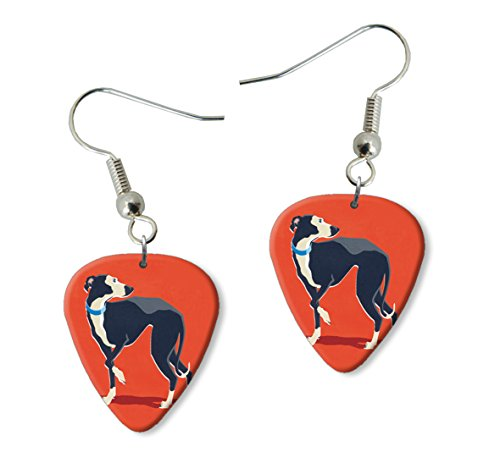 greyhound-dog-martin-wiscombe-guitar-pick-orecchini-earrings-vintage-retro