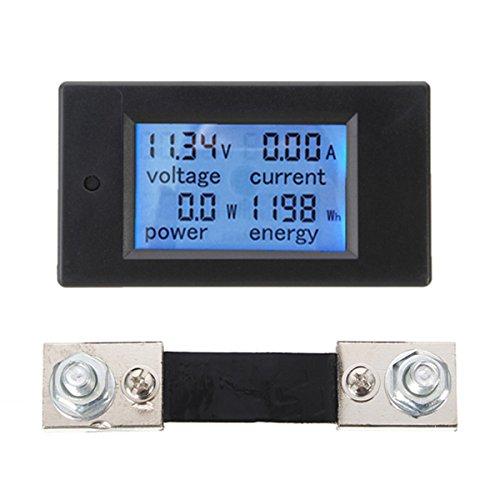 Bluelover 100A Dc Multifunktions-Digital-Leistungsmesser Energie-Monitor-Modul Voltmeter Amperemeter Mit Externem 100A Shunt Multifunktions-digital-video