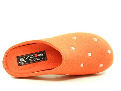 Haflinger Noblesse, Chaussons mixte adulte Orange